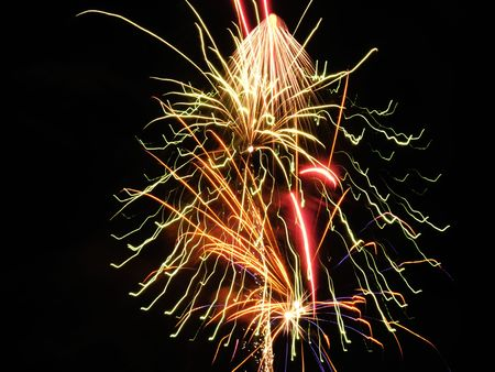 a firework display which would make a good background wallpaper or screensaver stock photo 2421747