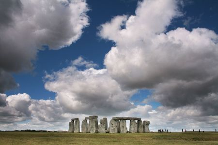wiltshire: The Ancient Stonehenge monument near Amesbury Wiltshire England Stock Photo
