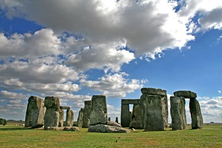 wiltshire: The Ancient Stonehenge monument near Amesbury Wiltshire England Stock Photo