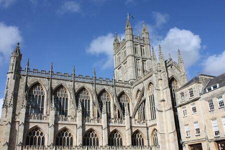 dissolved: Bath Abbey Inghilterra � l'ultima grande chiesa medievale, sciolto nel 1539 ed � ora uno occupato chiesa parrocchiale. Archivio Fotografico