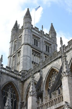 Bath Abbey is Englands last great medieval church, dissolved in 1539 and is now a busy parish church. photo