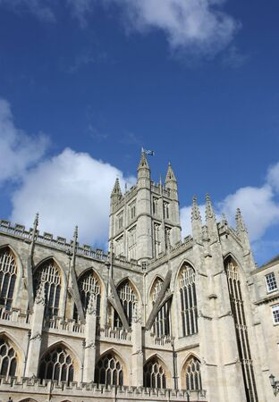 dissolved: Bath Abbey is Englands last great medieval church, dissolved in 1539 and is now a busy parish church.  Stock Photo