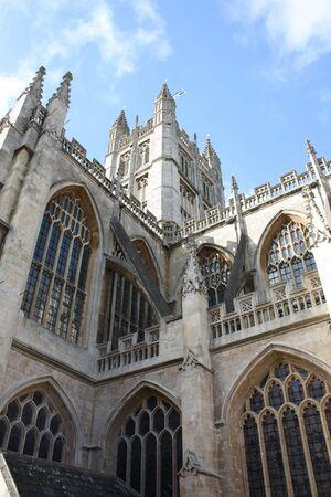 dissolved: Abbazia di Bath in Inghilterra ? l'ultima grande chiesa medievale, sciolto nel 1539 ed ? ora occupato una chiesa parrocchiale. Archivio Fotografico
