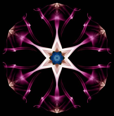 kaleidoscope: Incence smoke coloured cropped filtered and manipulated for  Kaleidoscope effect.