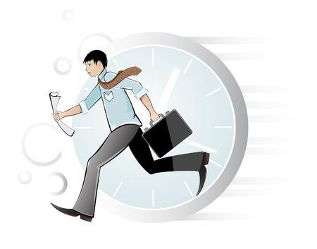 busy person: Ser hombre final. Ilustraci�n vectorial.