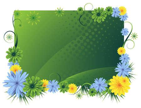 single color image: Bright floral scope.
