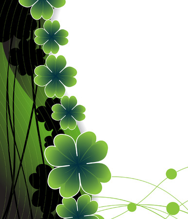 irish banner: Abstract background to st. Patricks day