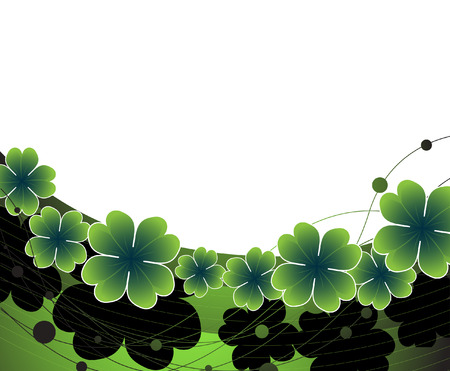 Clover background to st. Patricks day Vector