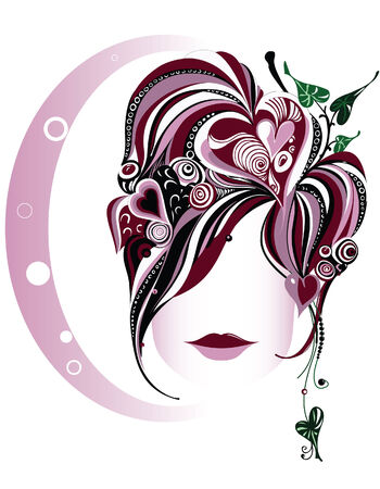 Beautiful face. Abstract vector illustration