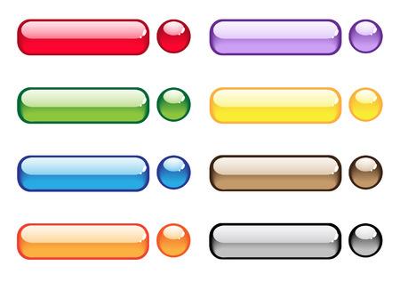 アクアの透明なボタン。明るいロイヤリティ フリーのストック ベクトル イラスト