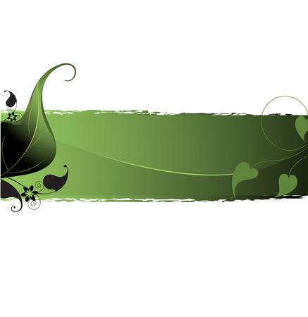 Delicate leaf design on dark green background. Place for texts and inscriptions. Иллюстрация
