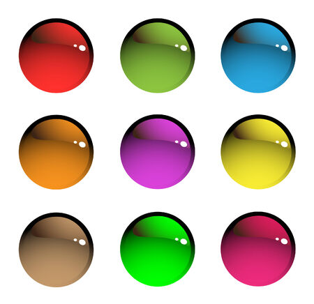 free stock: Nine sparkling beads. Bright series royalty free stock vector illustration