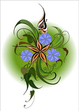 Flower bouquet. Bright vector picture. Vector