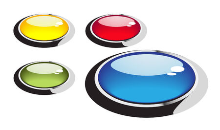 Transparent buttons. Bright series royalty free stock vector illustration Stock Vector - 9139560