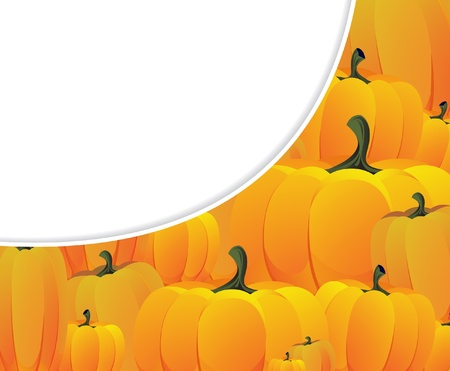 Lots of fresh and ripe pumpkins. Halloween background Stock Vector - 10999881