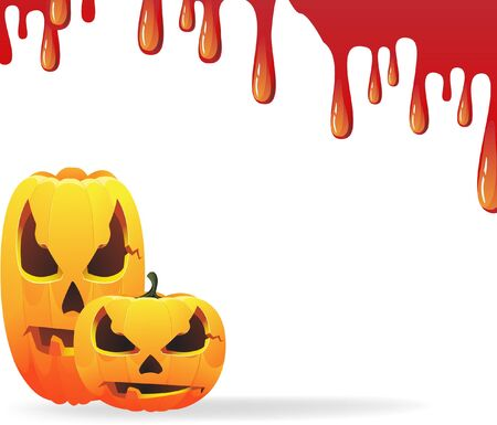 Jack o lantern  on the bloody background Vector