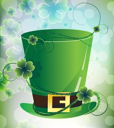 Magic ivy chokes the leprechaun hat Stock Vector - 12828617
