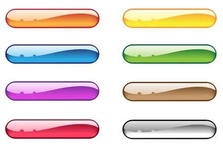 lizenzfrei: ight transparent aqua buttons Helles Serie lizenzfreie Stock Illustration Illustration