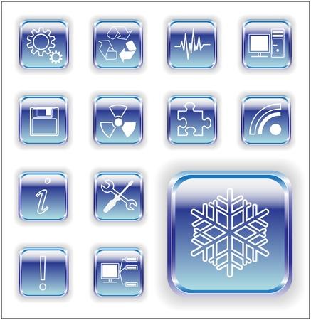 lamiera metallica: Metal comunicazione Sheet icone luminose royalty free serie illustrazione vettoriale magazzino Vettoriali