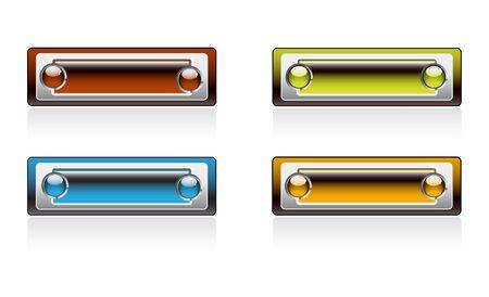 lizenzfrei: Farbe Rechteckige Platten Helle Serie lizenzfreie Stock Vektor-Illustration