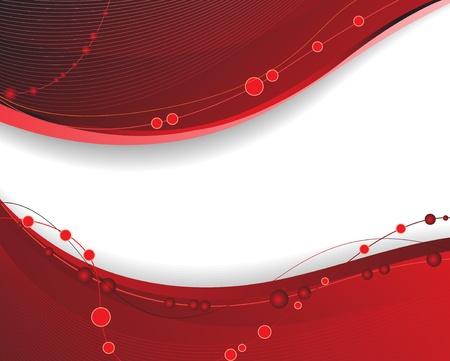 赤い波線の抽象的な背景
