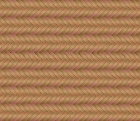 Beige straw woven mat  Vector