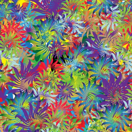 abstract flowers: Bright flowers  Abstract floral background