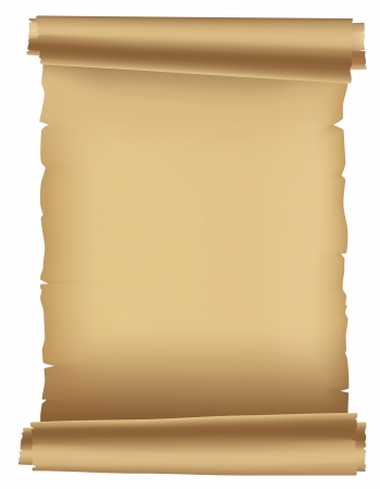 Ancient parchment. Old frame for texts and inscriptions. Stock Vector - 14678694