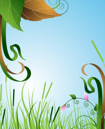 Green flowering meadow bright summer morning Stock Vector - 15094957