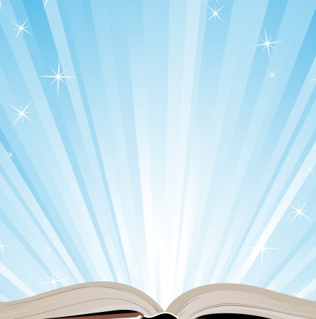Open book and a bright shine Vector