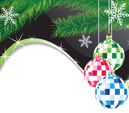Original Christmas dekorations on a sparkling  background Vector