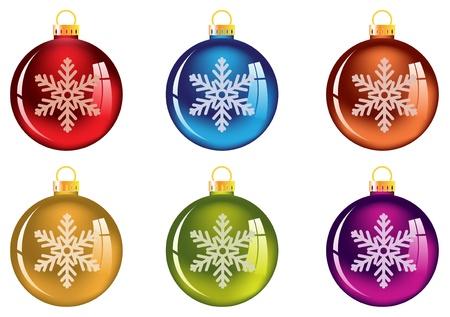 雪の結晶を明るいクリスマスの装飾。白で隔離されます。 写真素材 - 16420359