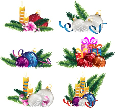 Set of Christmas and New Year Stock Vector - 16704553