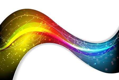 Abstract spectrale golf in een witte achtergrond Vector Illustratie