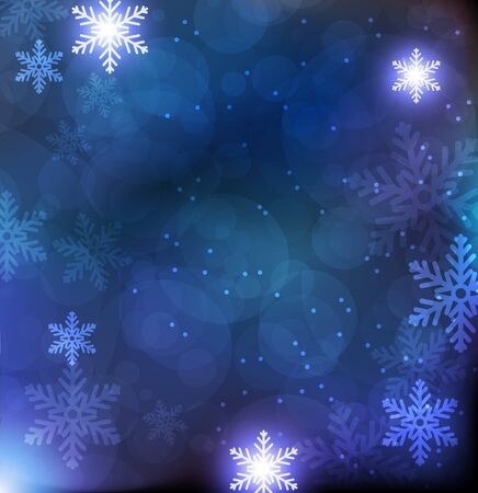 Blue Christmas background with transparent snowflakes Stock Vector - 17021776