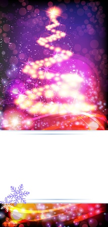 Abstract Christmas tree on a sparkling background Stock Vector - 17085615