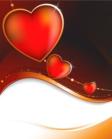 lizenzfrei: Herz auf einem lila Hintergrund Rahmen Lizenzfreie Vektor-Illustration