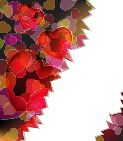 Chopped background with  Valentine Stock Vector - 17529229
