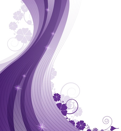 Abstract  lilac background with flowers and place for text  Stock Vector - 17778926