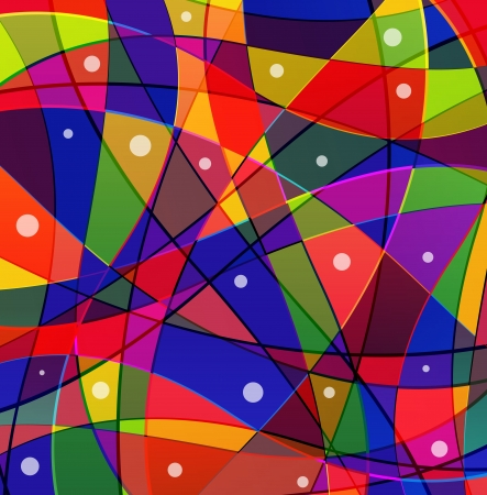 Abstract  funny background with colorful geometric elements Vector