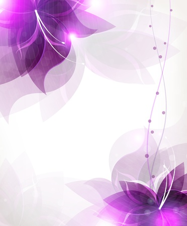Transparent lilac flowers on a white background Vector