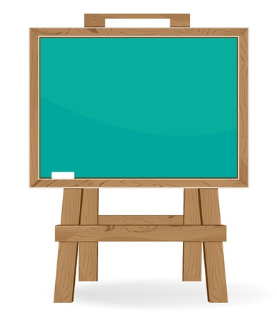 slate board: Blackboard and piece of chalk on a white background. Education symbol