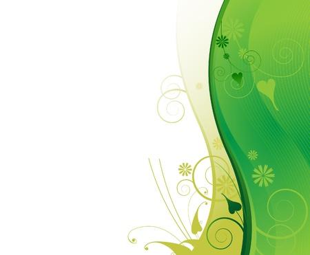 緑の花の背景フレーム ヘッダーのタイトル 写真素材 - 18592271