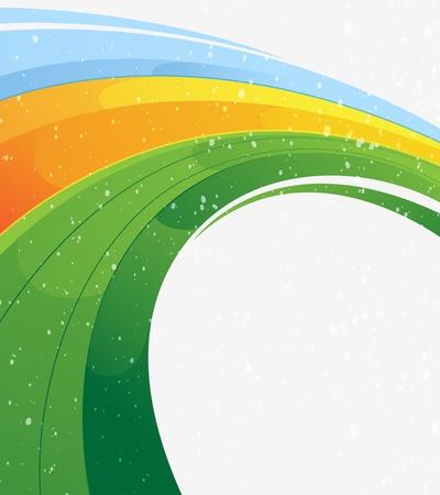 smooth background: Verde, blu e giallo concentrici astratto Vettoriali