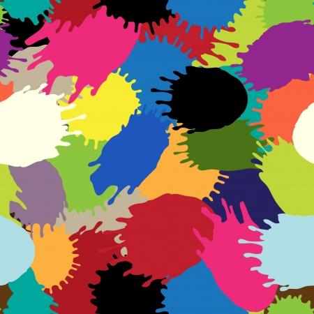 multi coloured: Multi coloured blots  Bright seamless structure  Illustration