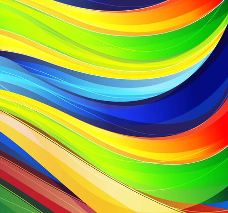 Colorful wavy stripes  Abstract spectral background