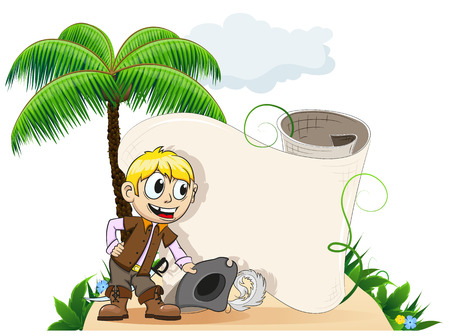 Good natured pirate takes off his hat  and bow. Invitation to a desert island Stock Vector - 22207045