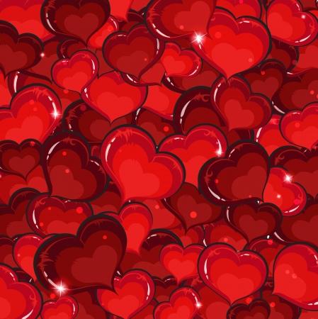 voluptuous: Sparkling hearts.  Saint Valentines Day background