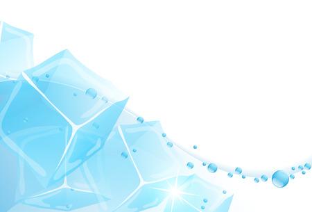 澄んだ水の氷