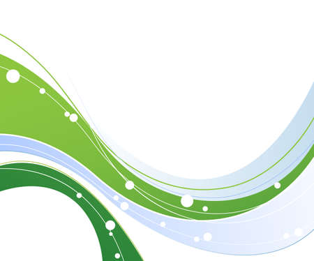 oncept:  Abstract background with waved blue and green elements  Illustration
